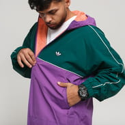 adidas Originals Shell Jacket fialová / tmavě zelená