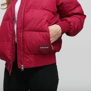 CALVIN KLEIN JEANS Blocking Puffer Jacket tmavoružová / ružová