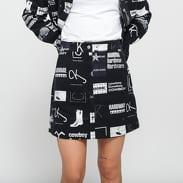 CALVIN KLEIN JEANS Mini Punk AOP Skirt čierna / biela