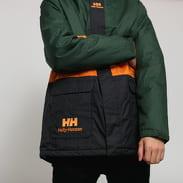 Helly Hansen YU INS Rain Jacket tmavě zelená / černá / oranžová