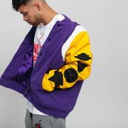 Jordan M J Sport DNA Varsity Jacket fialová / žlutá / bílá