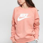 Nike W NSW Essential Crew Fleece HBR růžová