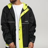 Stüssy Honeycomb Hooded Jacket černá / neon žlutá