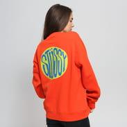 Stüssy Oden Crew tmavě oranžová