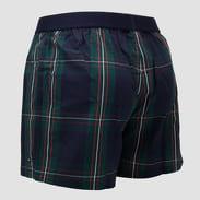 Tommy Hilfiger Woven Boxer Big Check tmavě zelené / navy / bílé / červené