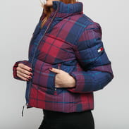 TOMMY JEANS W Cotton Check Puffa Jacket multicolor