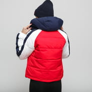 TOMMY JEANS W RWB Detail Popover Jacket červená / navy / bílá
