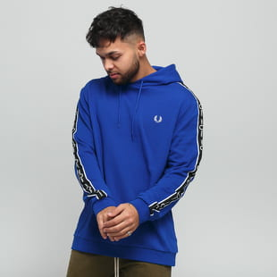 FRED PERRY Taped Sleeve Hooded Sweatshirt
