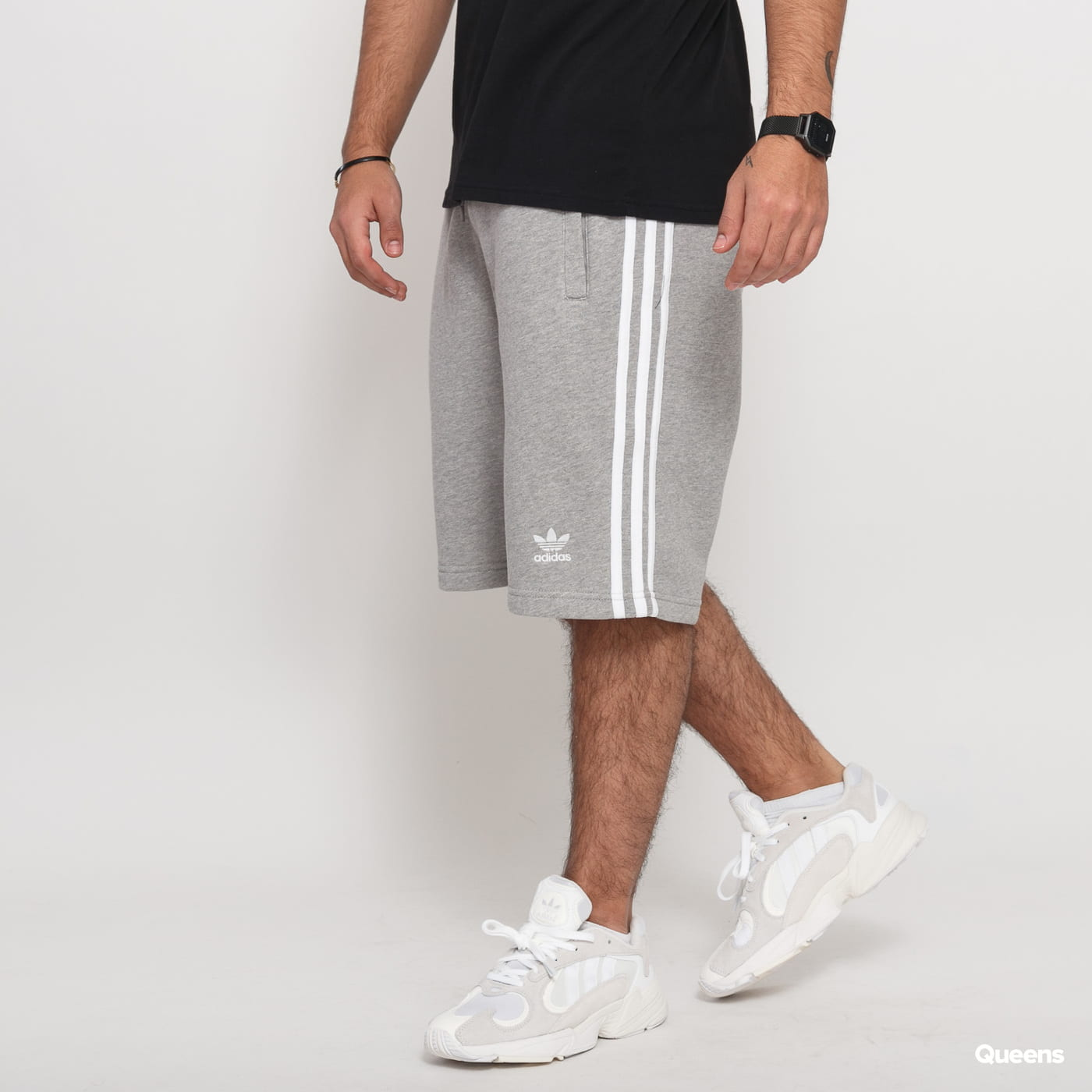 adidas Originals 3-Stripe Short melange šedé