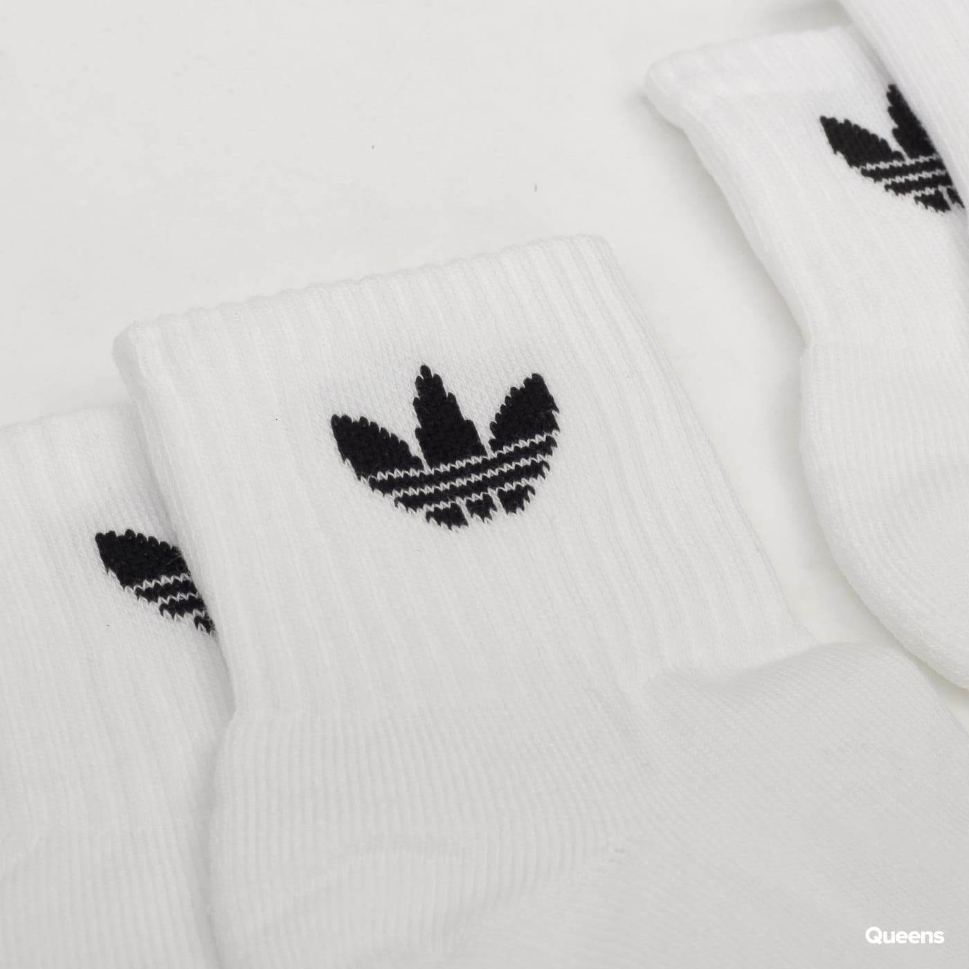 adidas Originals Mid Ankle Socks biele