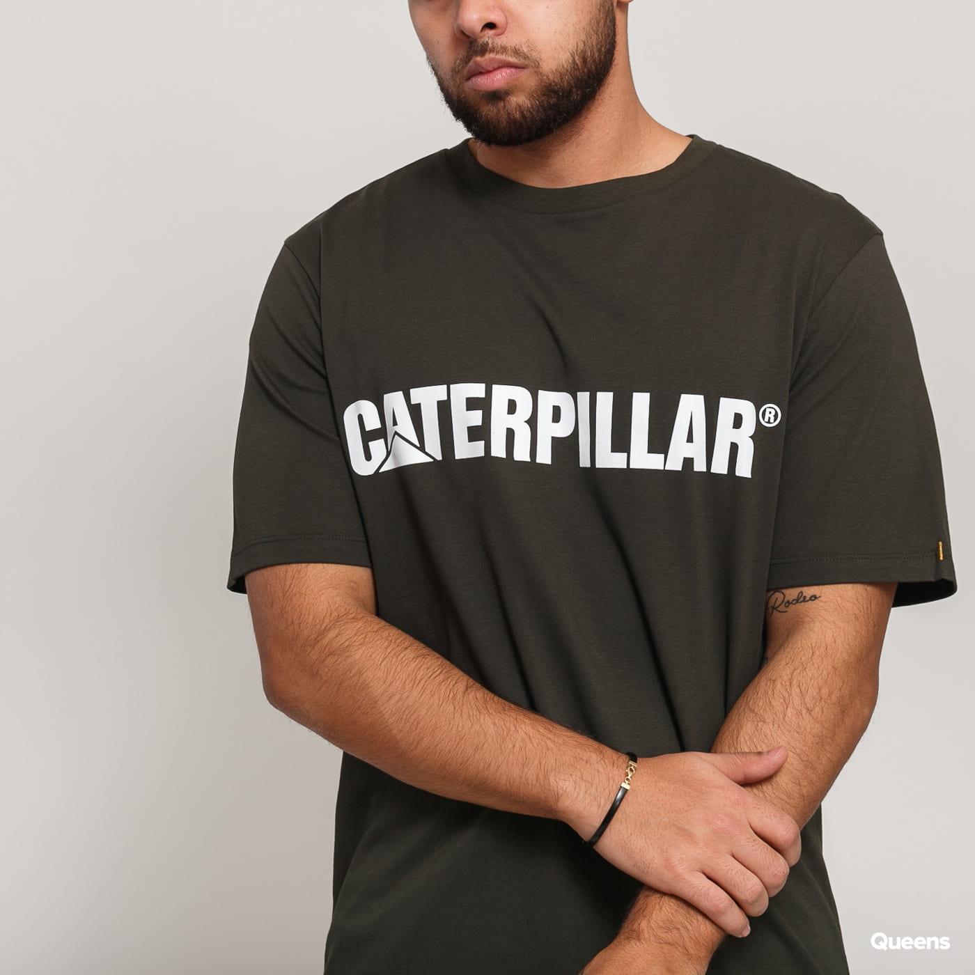 CATERPILLAR Classic Tee tmavo olivové