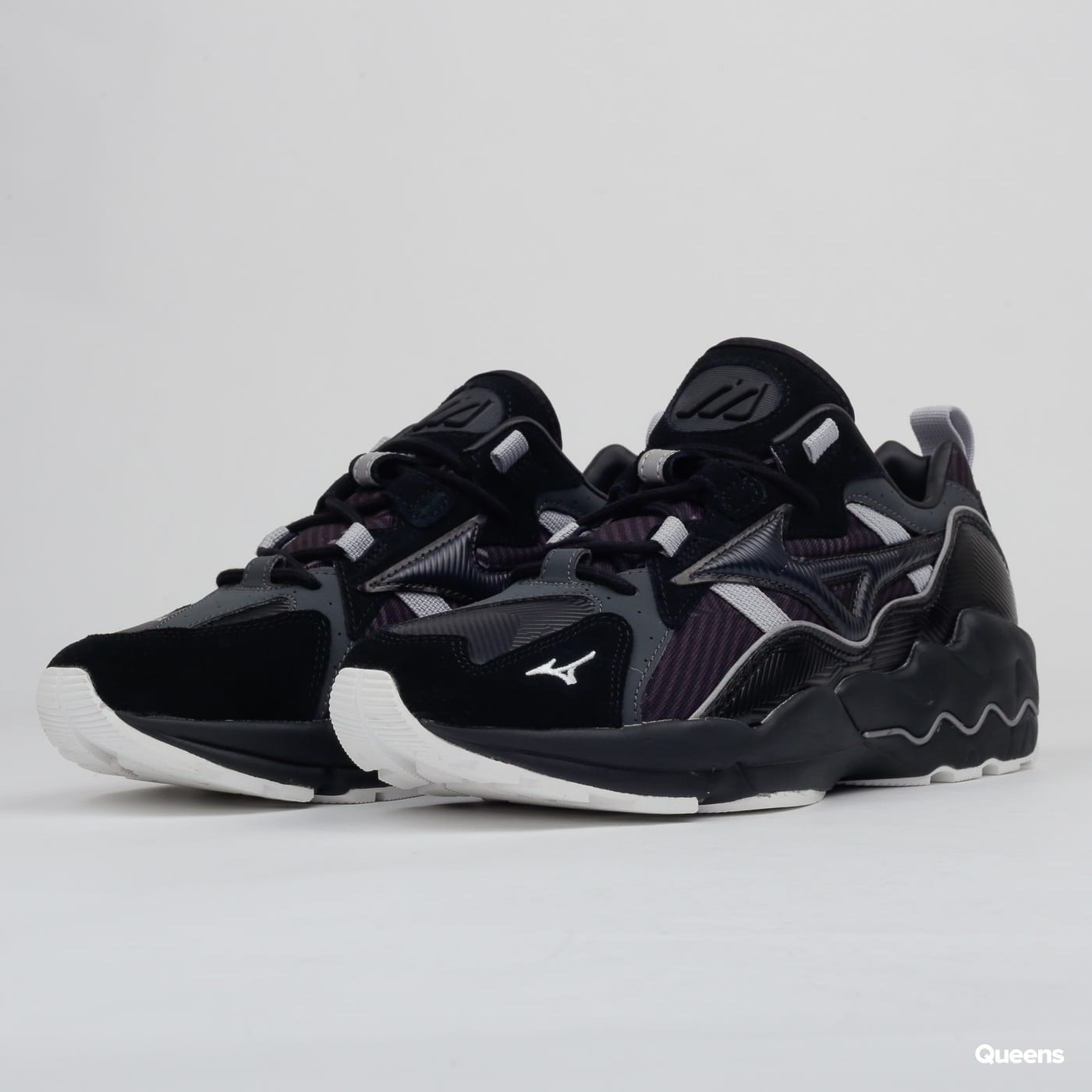 Mizuno Wave Rider 1 urban camo / black / blue graphite