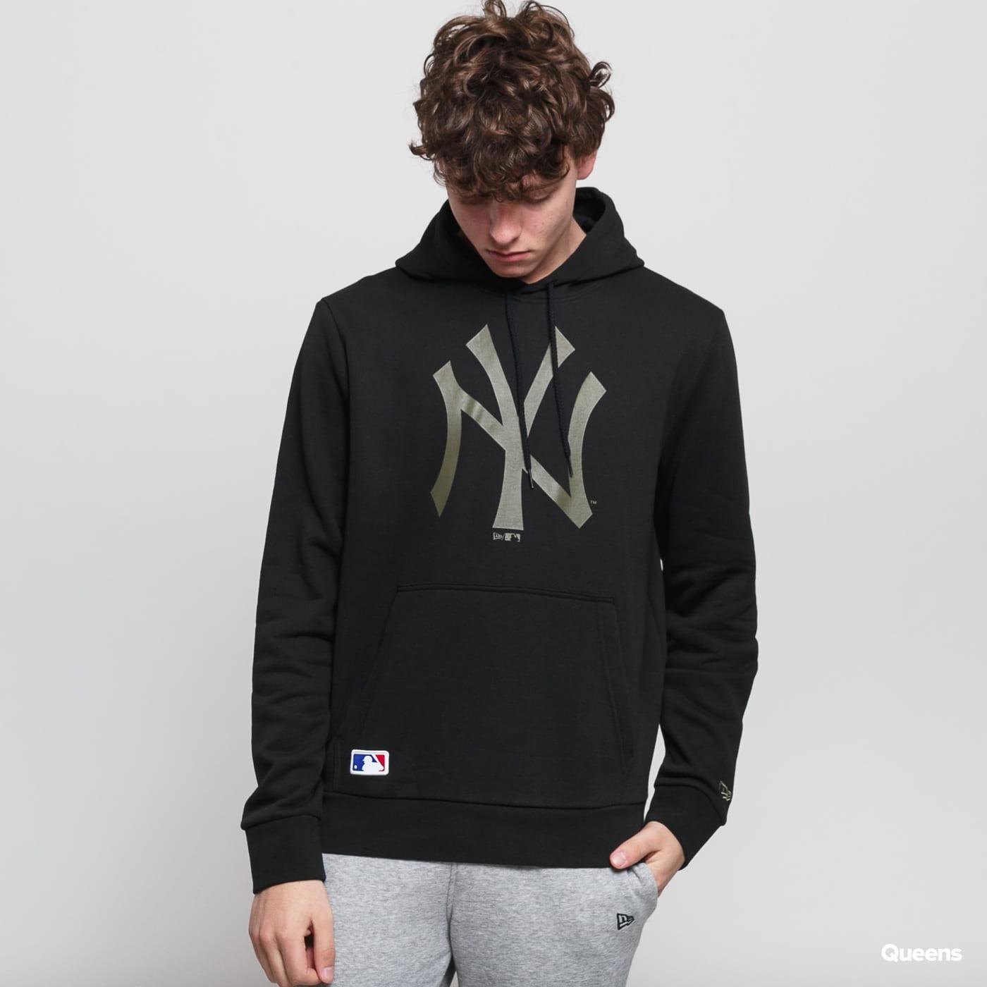New Era MLB Seasonal Team Logo Hoody NY čierna / olivová