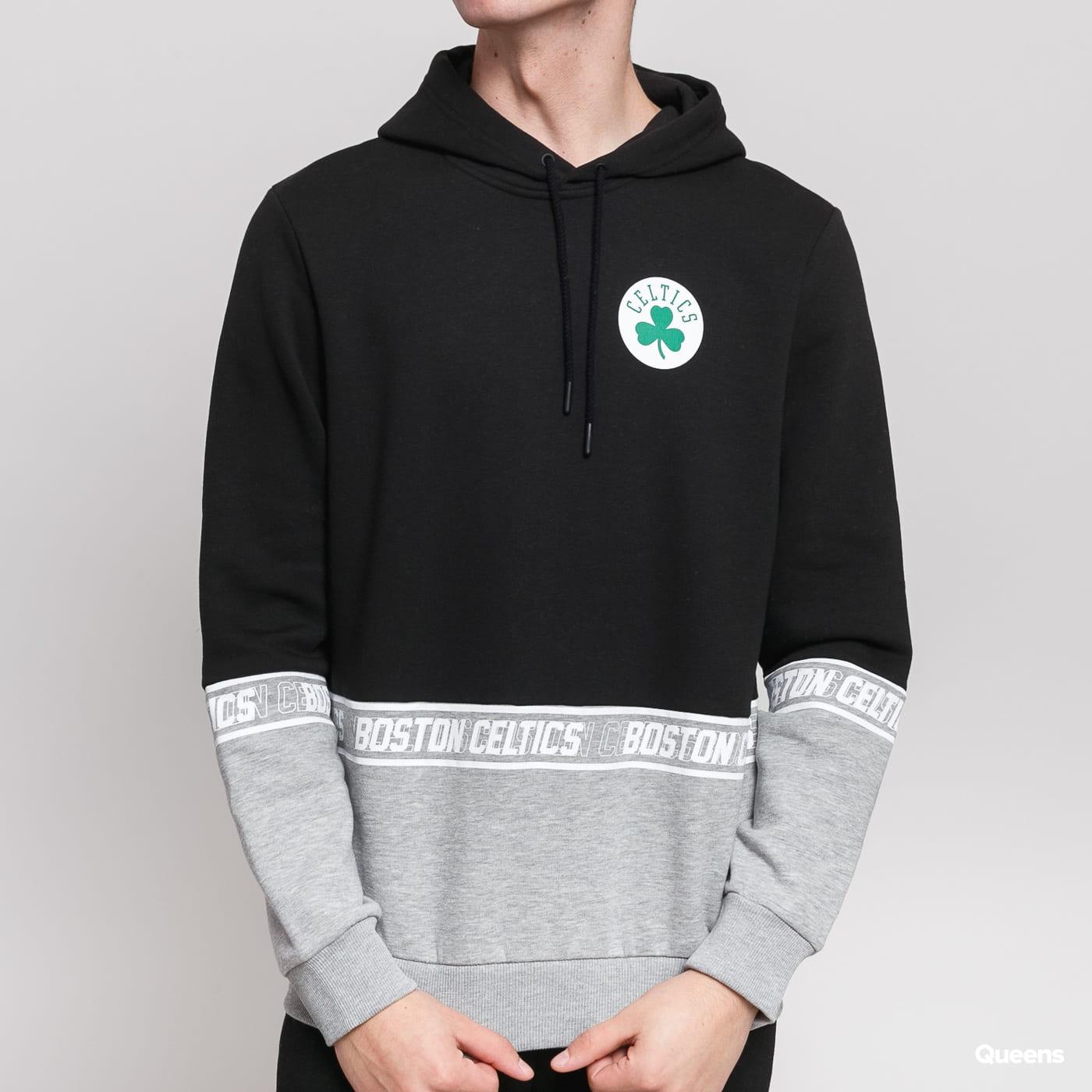 New Era NBA Colour Block Hoody Celtics čierna / melange šedá