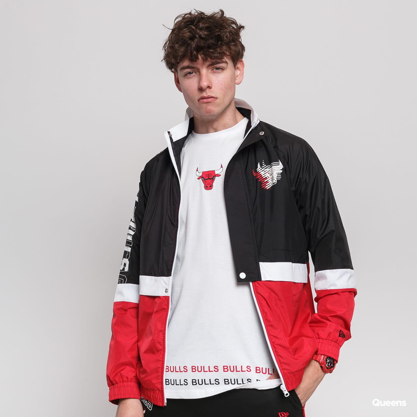 New Era NBA Colour Block Track Jacket Chicago Bulls čierna / červená / biela