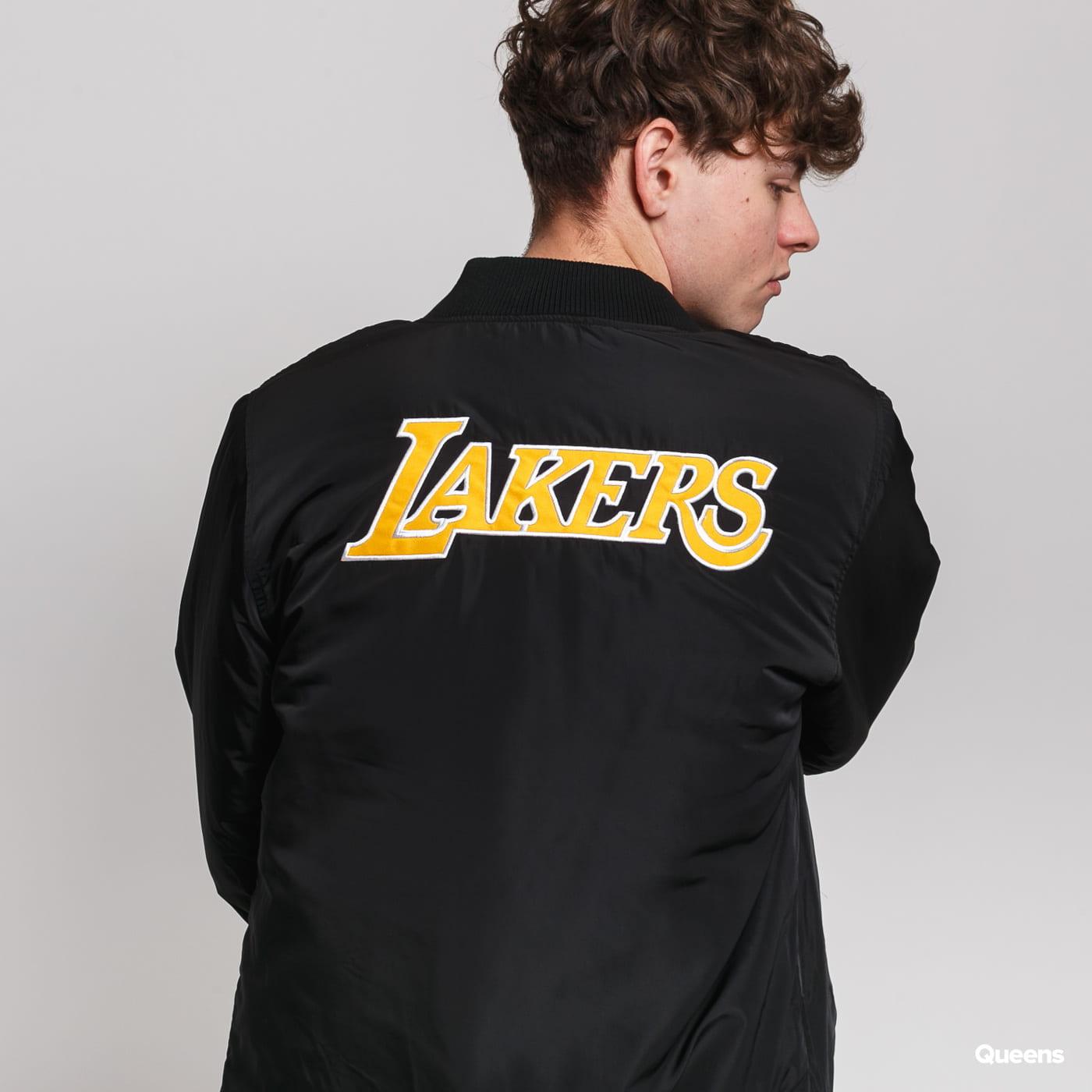 New Era NBA Team Logo Jacket LA Lakers čierna