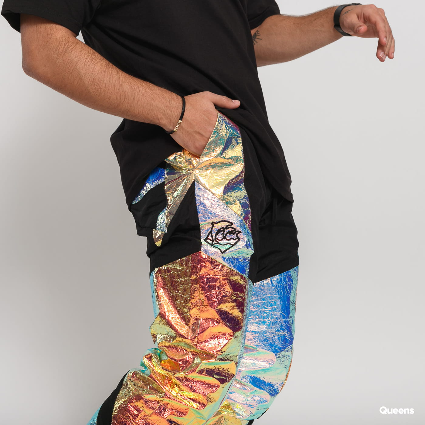 Pink Dolphin Iridescent Waves Breaker Pant multicolor