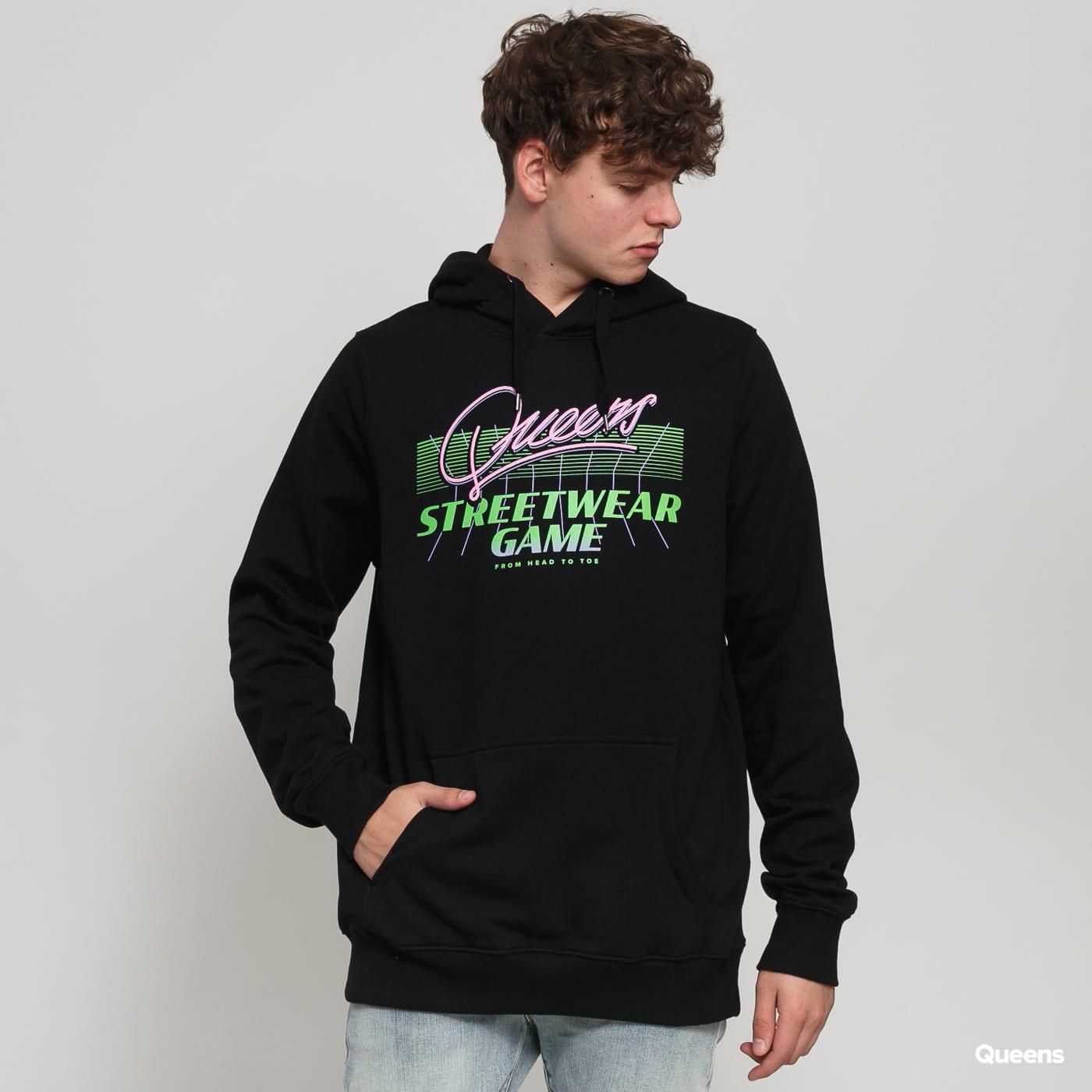 Queens Streetwear Game Hoodie black