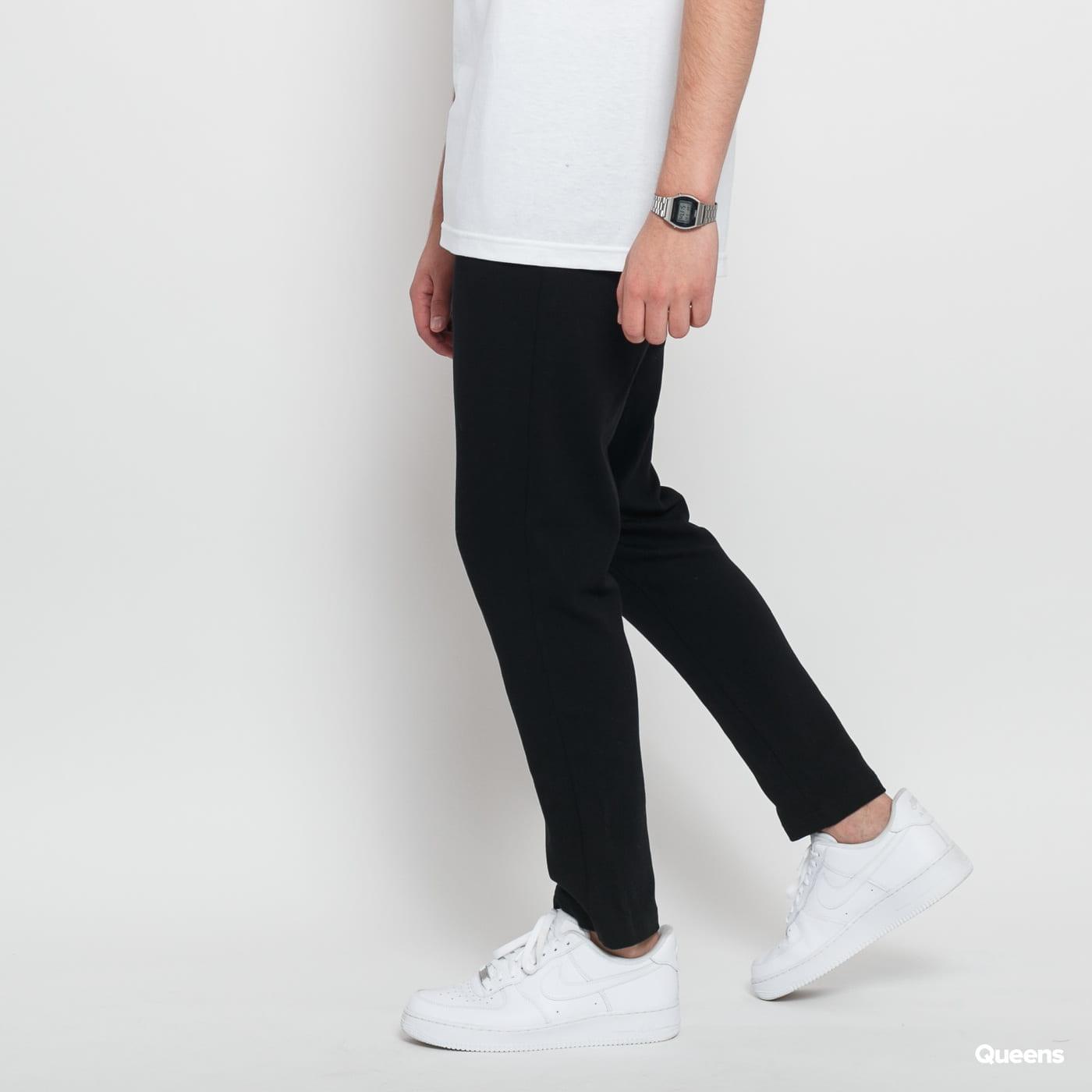 Urban Classics Formula Cropped Peached Interlock Pants black satin
