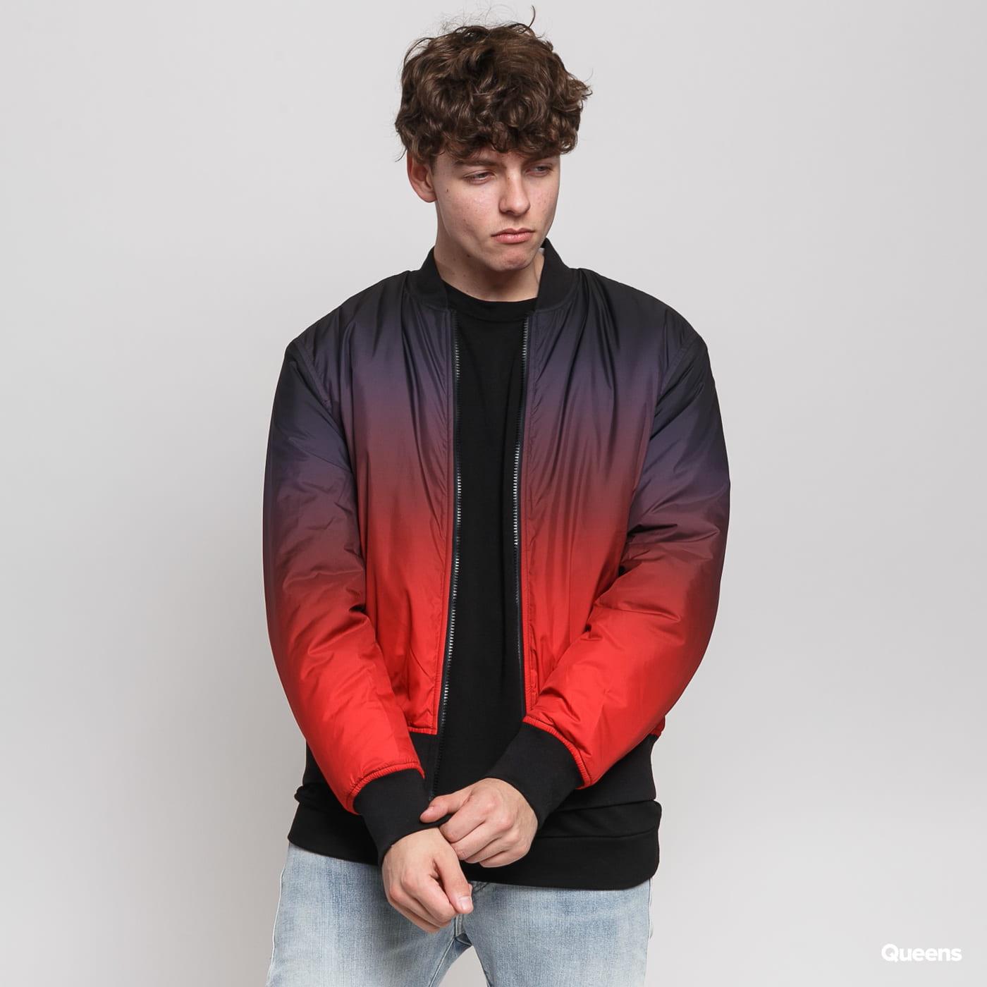 Urban Classics Gradient Bomber Jacket red / bordeaux / black