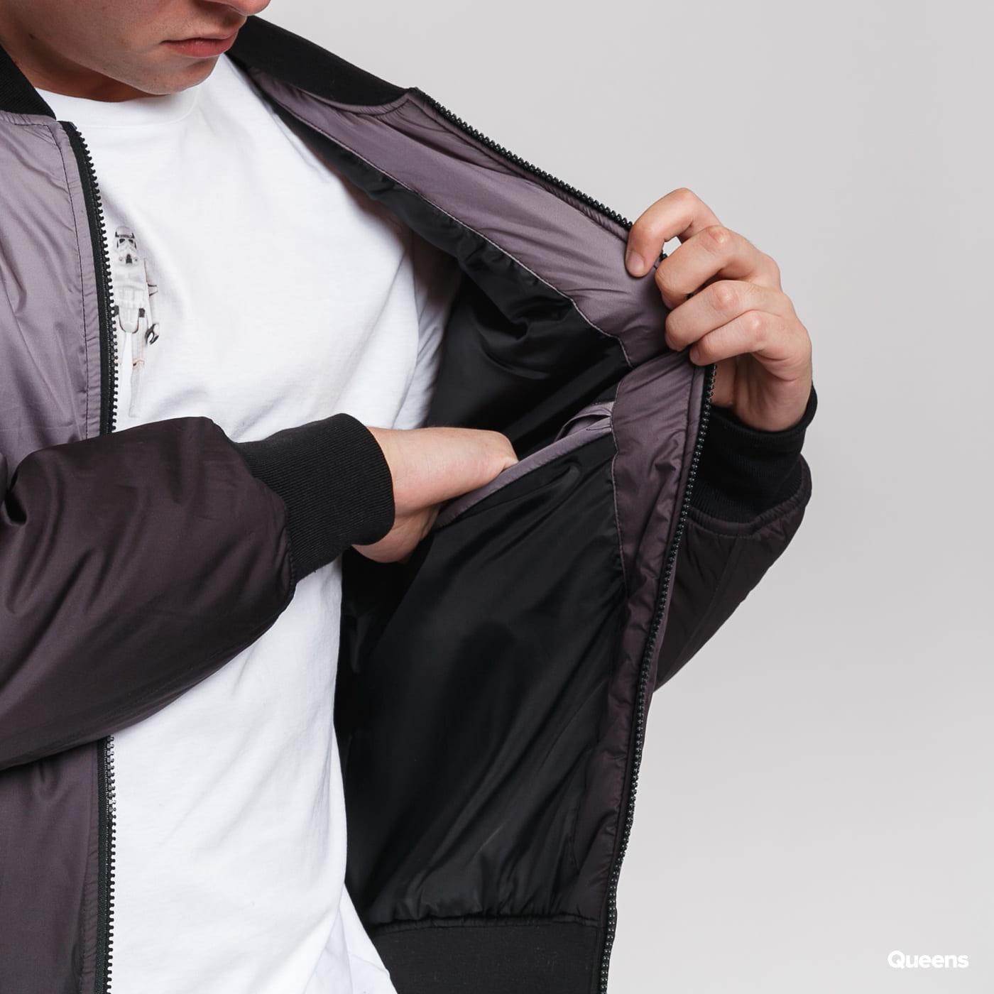 Urban Classics Gradient Bomber Jacket tmavošedá