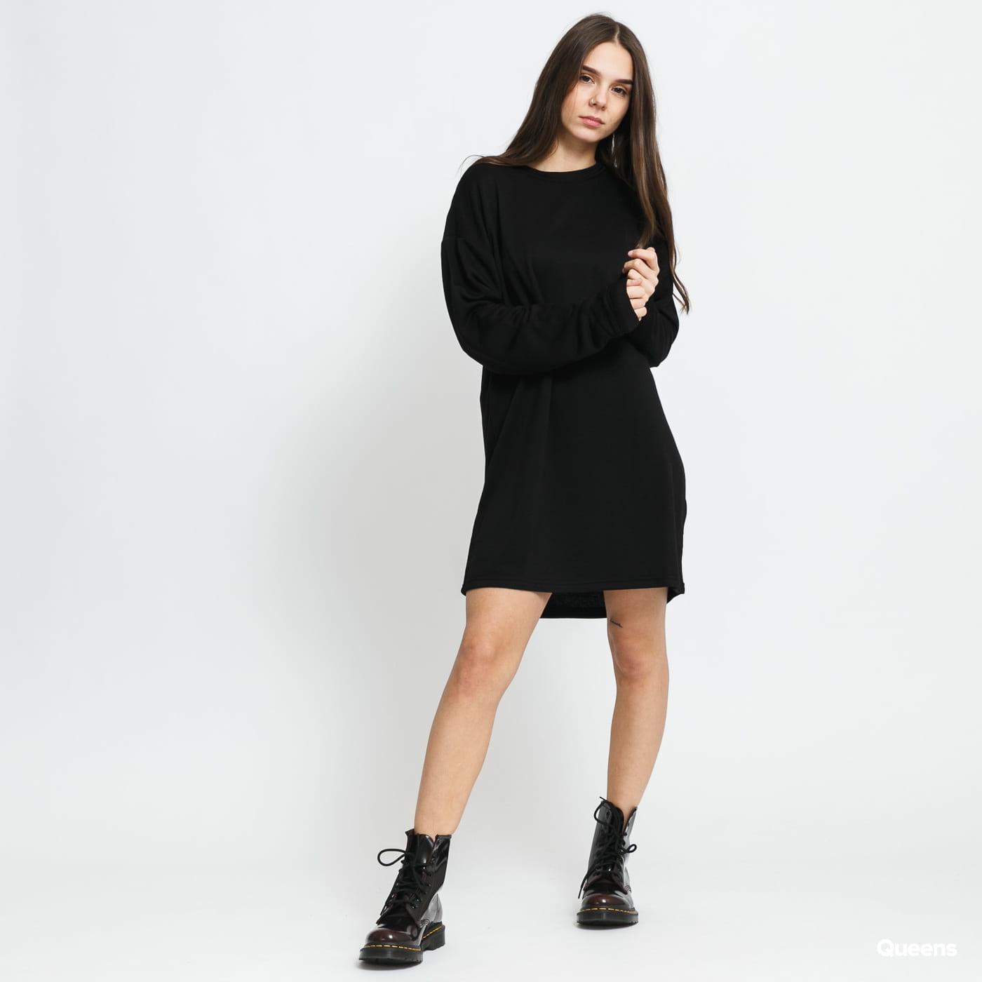Urban Classics Ladies Modal Terry Crew Dress čierne