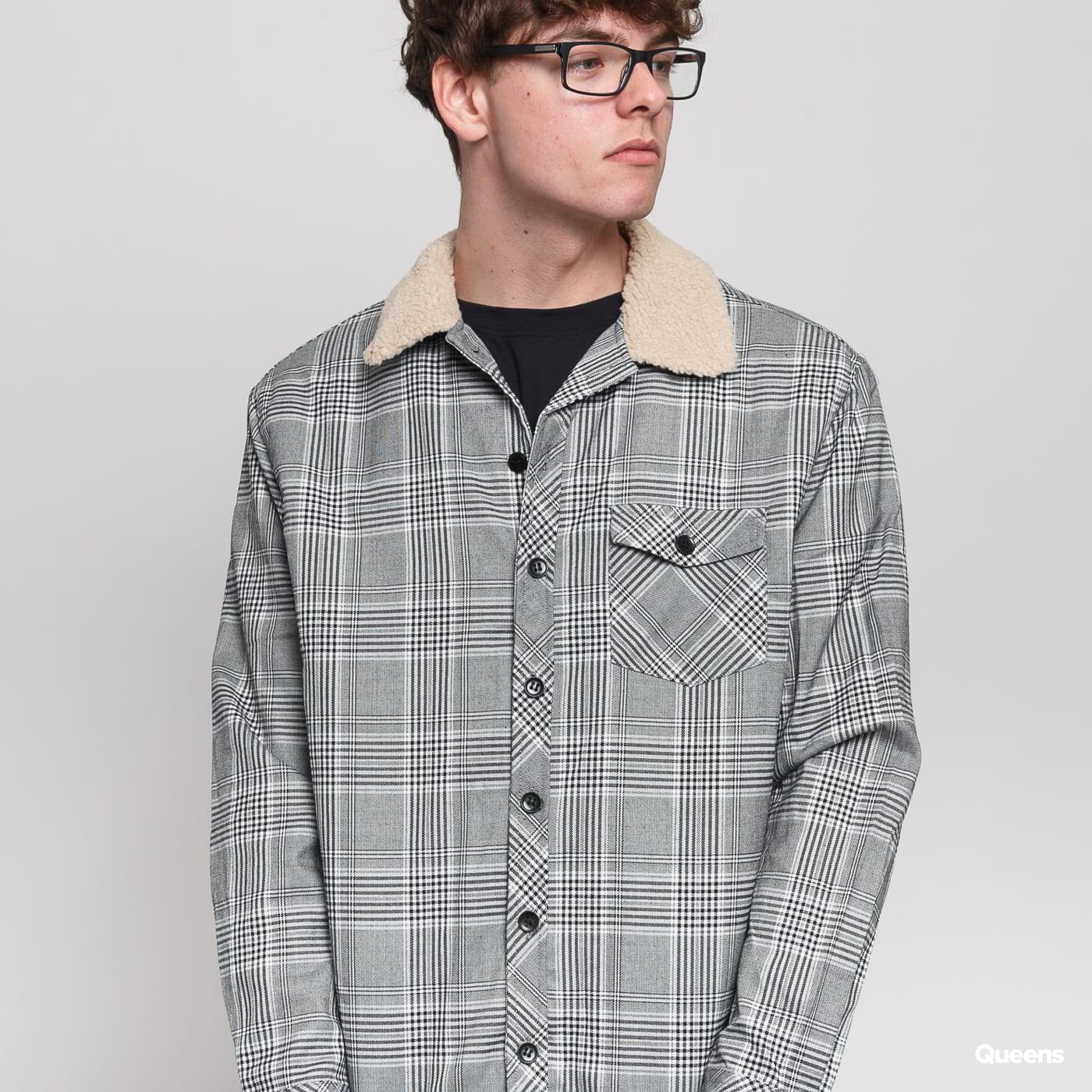 Urban Classics Sherpa Lined Glencheck Shirt Jacket black / white