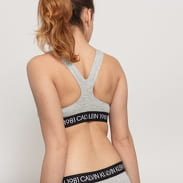 Calvin Klein Unlined Bralette 1981 melange gray / black / white