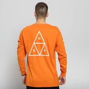 HUF Essentials Triple Triangle LS oranžové