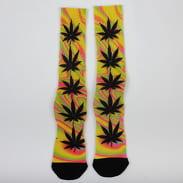 HUF Good Trip Plantlife Socks žluté / růžové / oranžové / zelené / černé