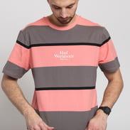HUF Mazon Stripe Tee růžové / tmavě šedé / černé