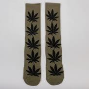 HUF Plantlife Socks olivové / čierne