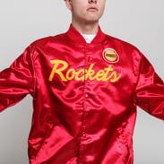 Mitchell & Ness NBA Special Script Satine Jacket Houston Rockets červená