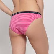 Tommy Hilfiger 3 Pack Bikini - Slip Stripe Print růžové / tmávě růžové / navy / bílé
