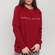 Tommy Hilfiger CN Track Top LS melange vínová