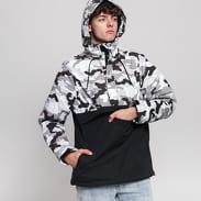 Urban Classics Camo Mix Pull Over Jacket camo šedá / černá / bílá