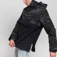 Urban Classics Camo Mix Pull Over Jacket camo tmavě šedá / černá