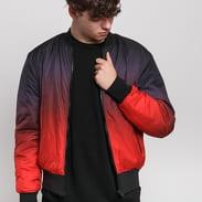 Urban Classics Gradient Bomber Jacket červená / vínová / černá