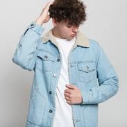 Urban Classics Sherpa Lined Jeans Jacket light denim / loam