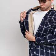 Urban Classics Sherpa Lined Shirt Jacket navy / biela