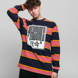 PLEASURES Electronics Striped LS Tee