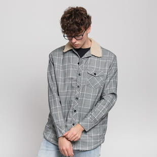 Urban Classics Sherpa Lined Glencheck Shirt Jacket
