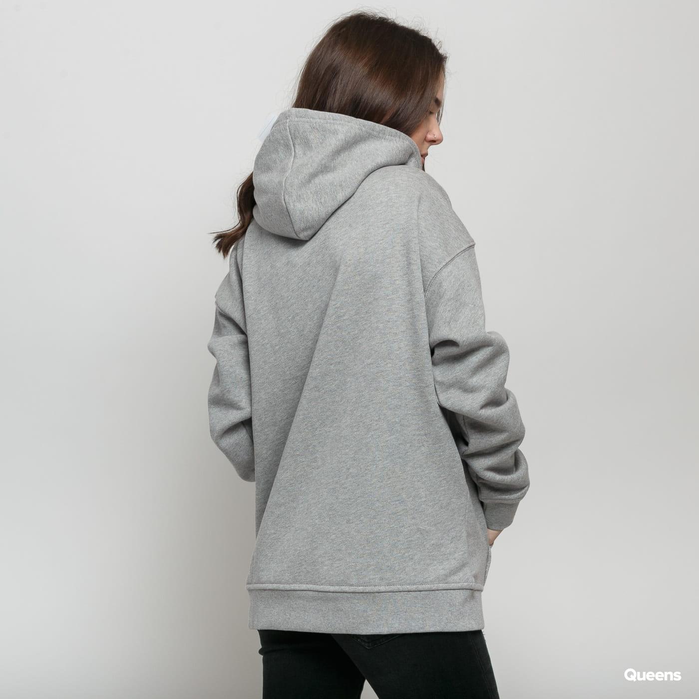 adidas Originals Trefoil Hoodie melange šedá / biela