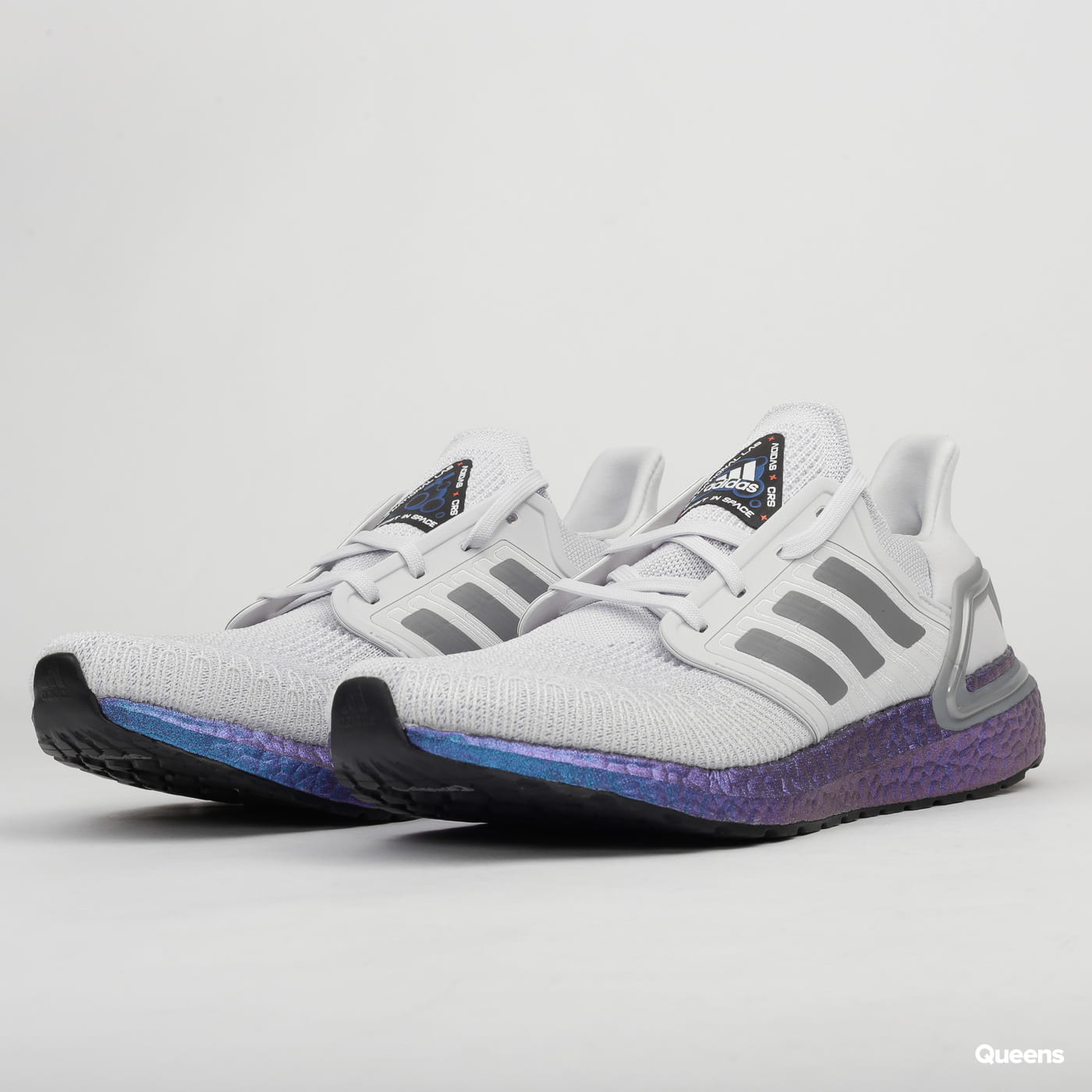 Adidas Running UltraBoost 20 Dash Grey Blue Men EG0755 Size 9.5