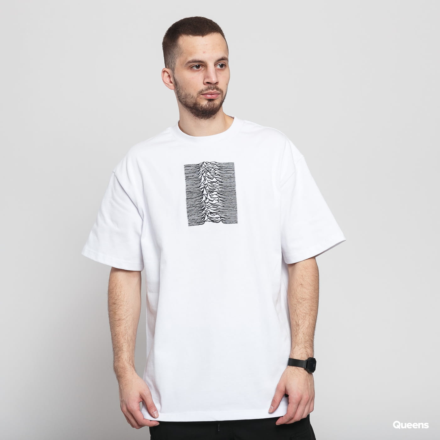 PLEASURES Joy Division Shadowplay Heavyweight Shirt biele / čierne