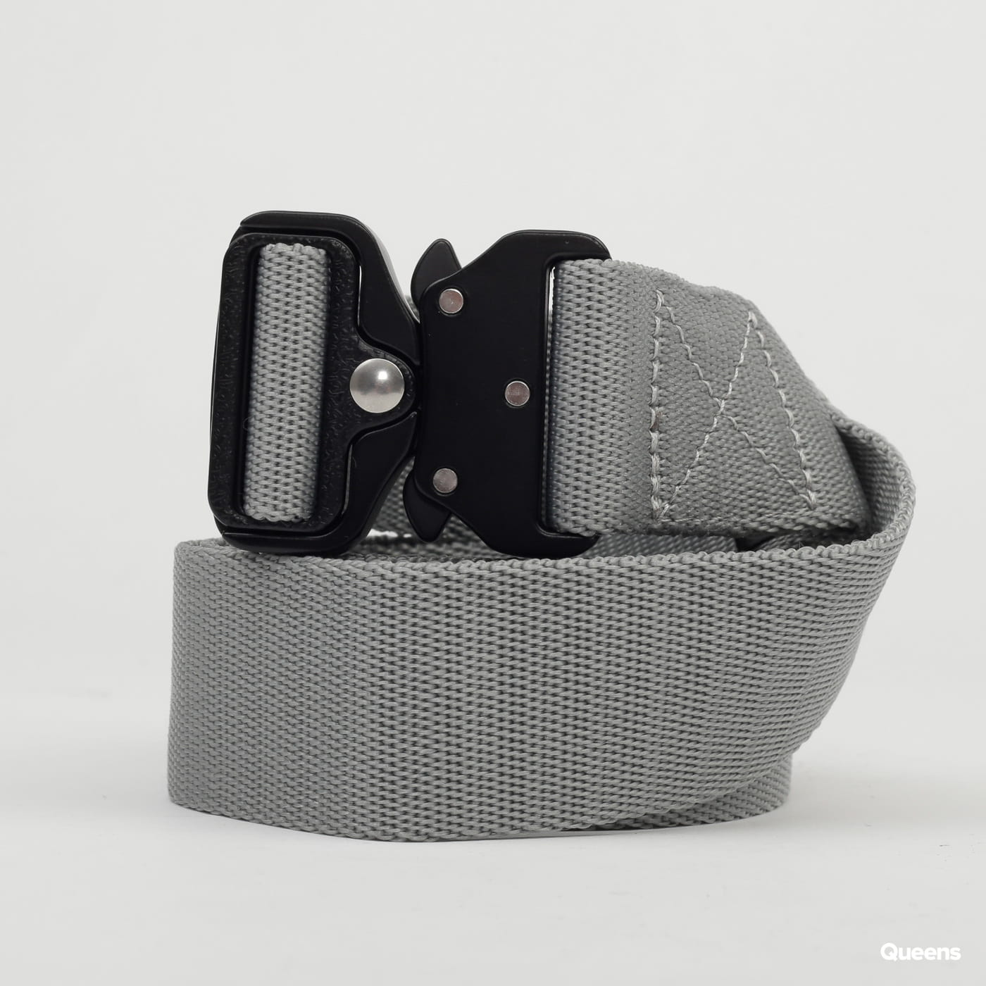 Urban Classics Wing Buckle Belt šedý