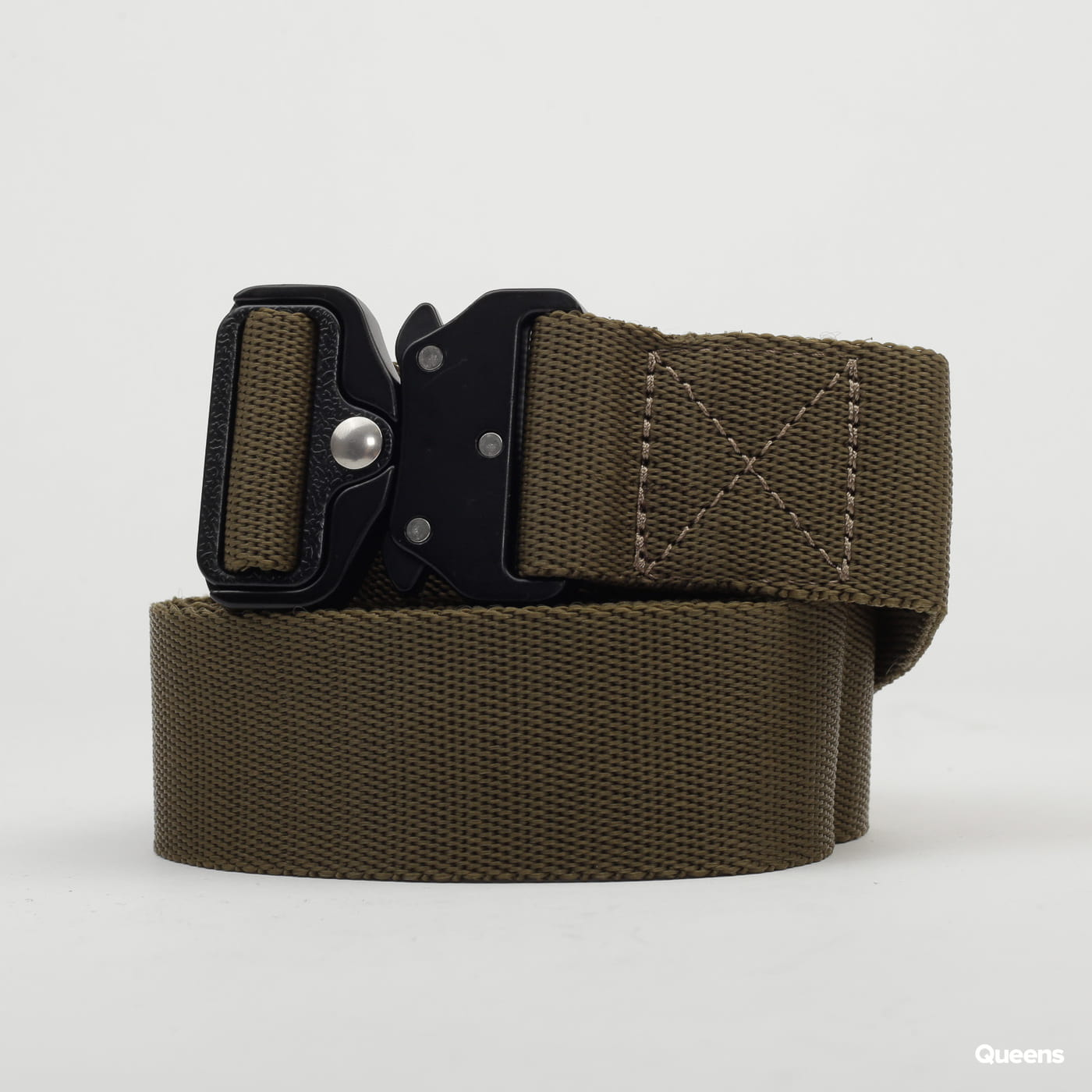 Urban Classics Wing Buckle Belt olivový