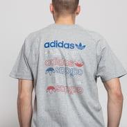 adidas Originals Ref / Met Tee melange šedé