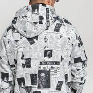 Jordan JM Rivals Fleece AOP PO Hoodie bílá / černá