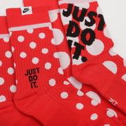 Nike U Sneaker Sox Crew 2 Pack červené / bílé
